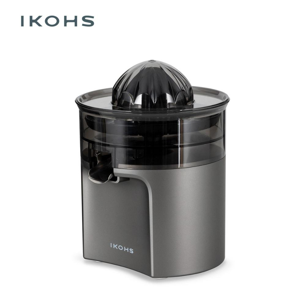 IKOHS-GRAY TORNADE Electric Orange Juicer Gray DishwasherPower Two Removable Cones Stainless Steel Clean Anti-drip System 400W image
