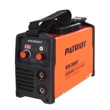 Аппарат сварочный инверторный PATRIOT WM 200AT MMA (Выходной ток 20-200 А, диаметр электродов 1.6-5.0 мм, мощность 8200 Вт, ПВ при макс.токе 60%, работа при пониженном напряжении 140-240 В)