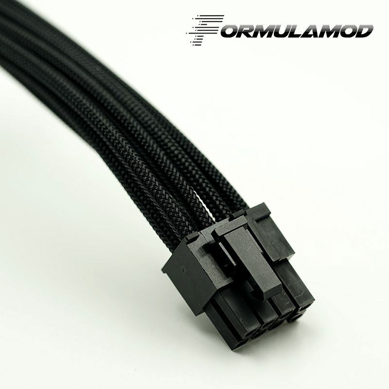 FormulaMod Fm-cpu 8P-A, ЦП 8Pin кабели расширения питания, материнская плата 18AWG 8Pin многоцветные соответствующие кабели расширения - Цвет лезвия: Black