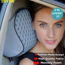 L2W espuma de Algodão Memória Encosto de Cabeça Do Carro Auto Pescoço Resto Almofada de Apoio Apoio para a Cabeça Do Assento Travesseiro de Viagem Cadeira de Tecido Macio segurança