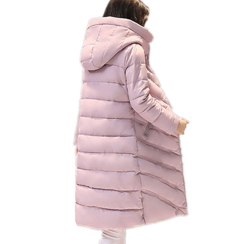 Hiver Chaud Femmes Parkas Manches Base D'hiver À Casual Longues Capuchon Dames Veste Glissière De Coton Nouveau Manteau Nm80Onwv
