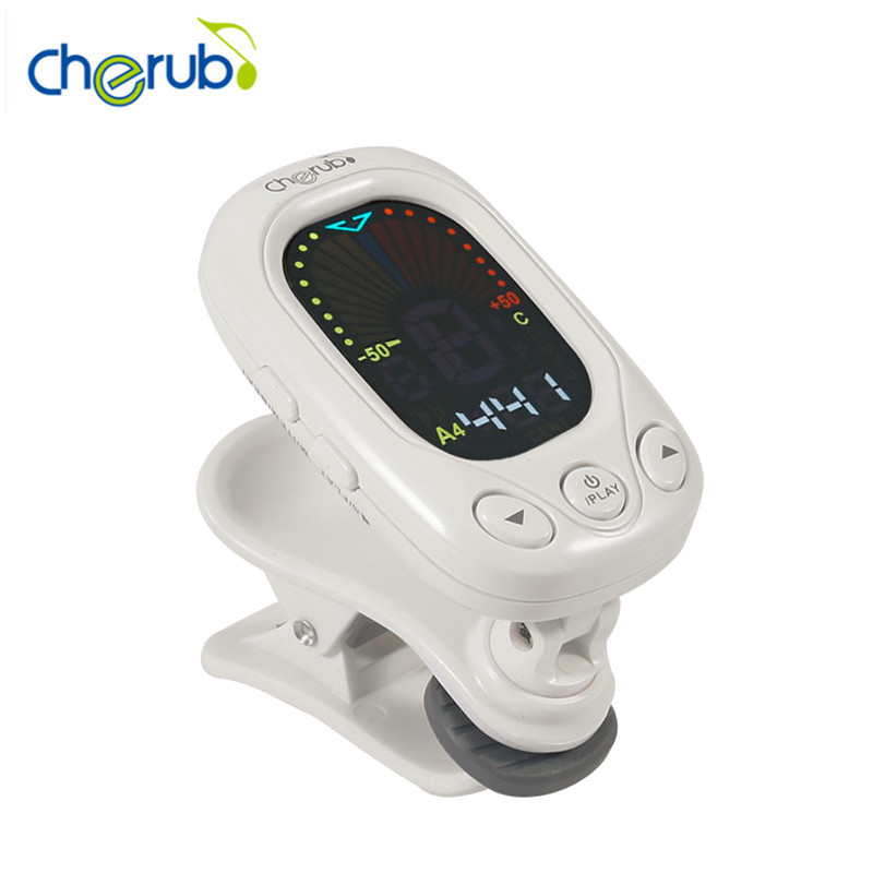 Cherub WST-2046 SCM Clip-On Digital Tuner Guitar Tuner Musical Instrument Accessories For Guitar Ukulele Bass Violin Tuning zebra 2 in 1 clip tuner metronome 360 degree rotatable clip guitar tuners machines for guitar beat tempo bass violin ukulele