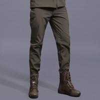 Men Thermal Softshell Fleece Tactical Outdoor Pants Military Sport Pants Windproof Hiking Trekking Hunting Climbing Men Trousers