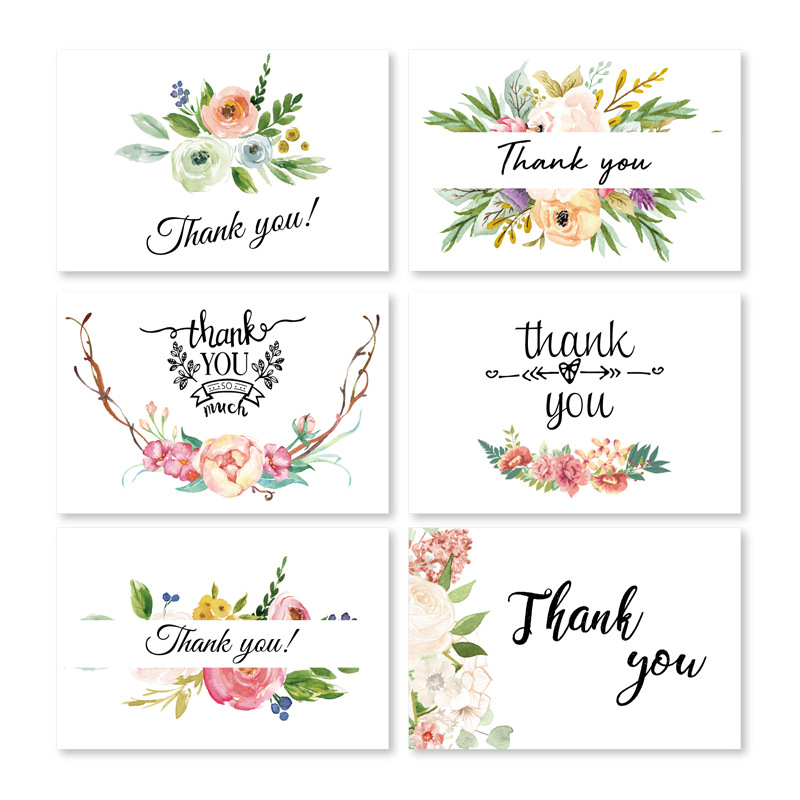 36pc/lot Nice Flower  Thanksgiving Day,business Wish Festival Celebration, Greeting Card, Greeting Card With Envelope