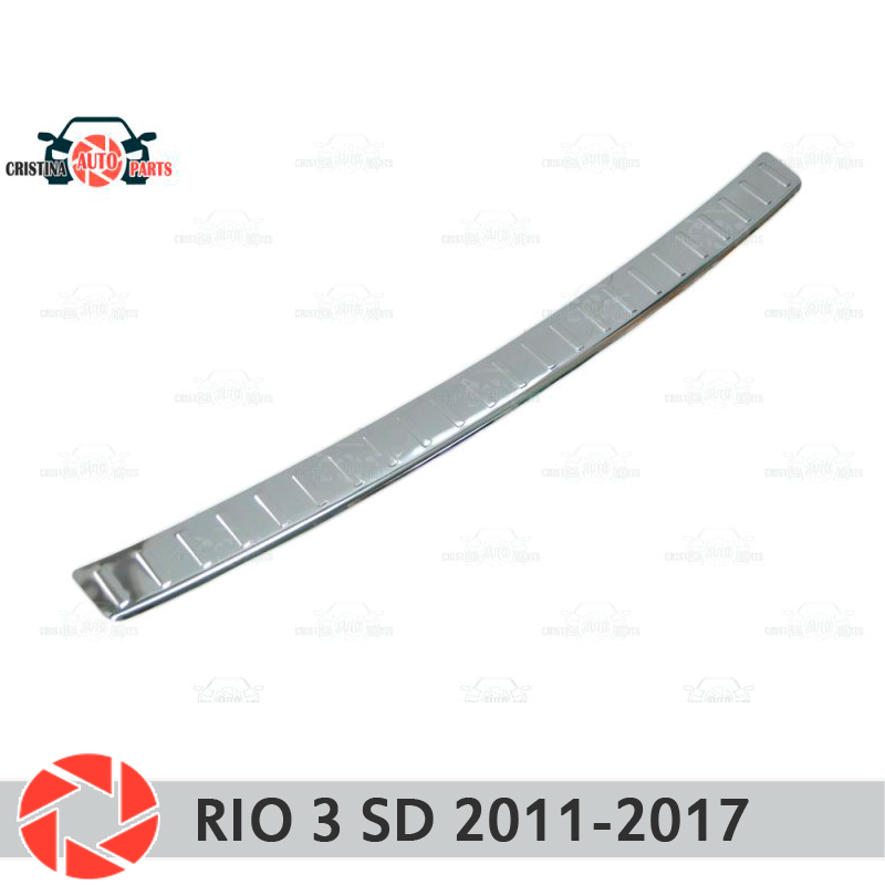 Plate cover rear bumper for Kia Rio 3 Sedan 2011-2017 guard protection plate car styling decoration accessories molding stamp все цены