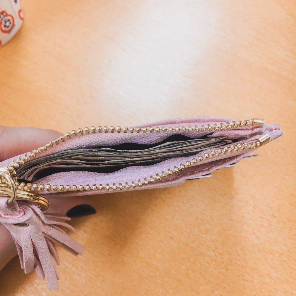Материал Подкладки:: Синтетическая Кожа; толстый кошелек; небольшой бумажник женщин;
