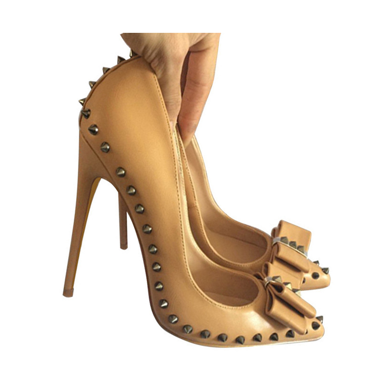 Automne Pompes Cm Femelle De Heel Roviciya 10cm Femme Femmes 12cm Pour Rivets Heel 45 8 Talons 33 Printemps Chaussures Heel 12 8cm Md012 Arc FfxrOvqFw