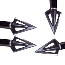 10pcs Hunting Arrowhead 100Gr Steel Broadhead 3 Blades Arrow Point Target Shooting Tips Crossbow Compound Recurve Bow Head