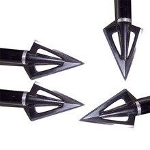10pcs punta di Freccia Da Caccia 100Gr Acciaio Broadhead 3 Lame Freccia Punto di Tiro Al Bersaglio Punte Balestra Compound Arco Ricurvo Testa