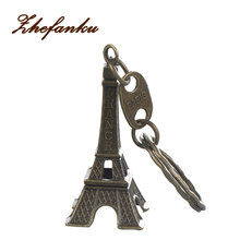 Eiffel Tower Keychain  Keys Souvenirs Paris Tour Retro Classic Vintage Key Ring Decoration Holder For Gift