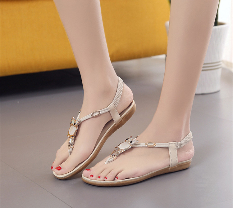 dabe58b5b0b4 2018 New summer shoes women fashion flat women Sandals Leisure Bohemia  Ladies beach Flip Flops Soft casual female Sandals shoes-in Women s Sandals  from ...