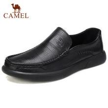 Zapatos para hombre de piel auténtica CAMEL, mocasines cómodos de alta calidad, calzado Formal de negocios para hombre, mocasines masculinos 47