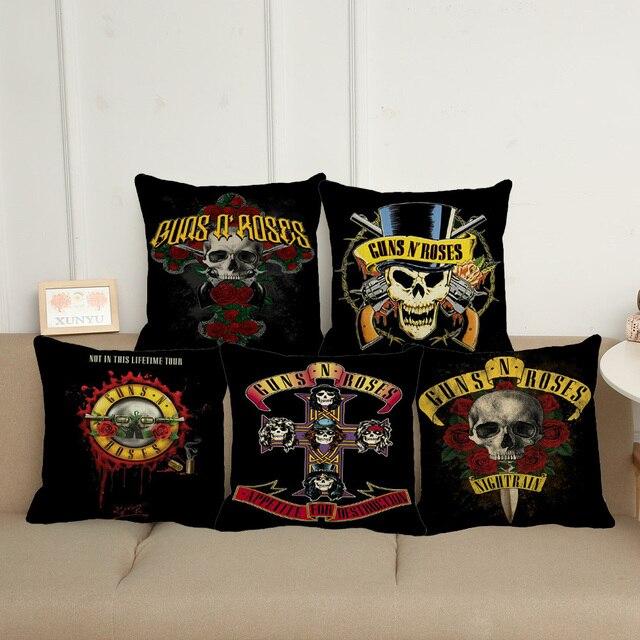 XUNYU Americano Leggenda Rock Band Guns N 'Roses Decorazione Federa Cuscino Diva