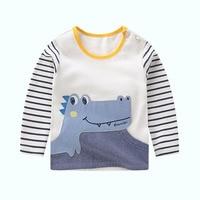 Invierno de los niños camiseta niño manga larga tops niñas ropa camiseta ropa de bebé camisas sudadera para niños