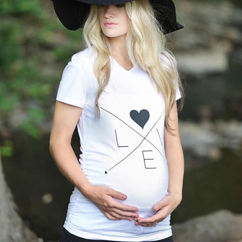 3471cf8eaf588 Plus Size Maternity tShirt Funny Women T shirts White Cotton Maternity  Shirts Gravida Top Pregnancy Clothing