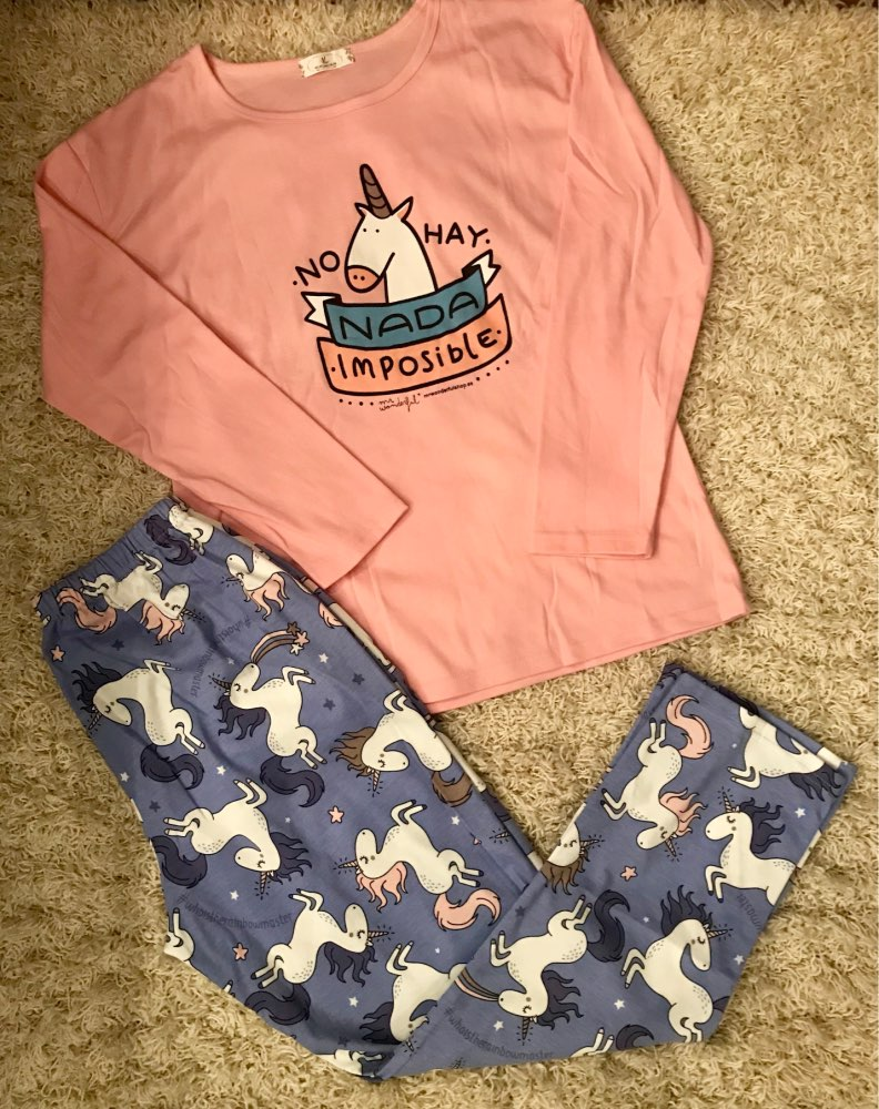 Cute Women's Unicorn Pajama Set photo review