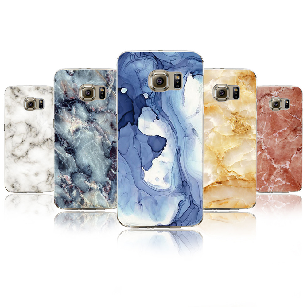 Marble Image Painted Phone Case For Samsung Galaxy S5 S6