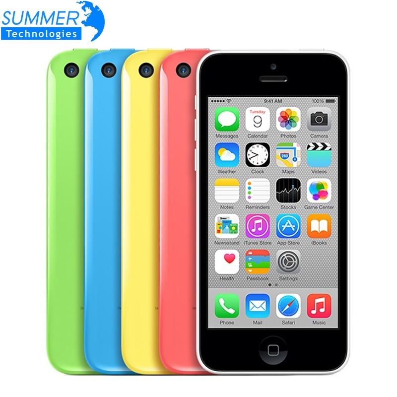 Original Unlocked Apple IPhone 5C Cell Phones 16GB 32GB Dual Core WCDMA WiFi GPS 8MP Camera
