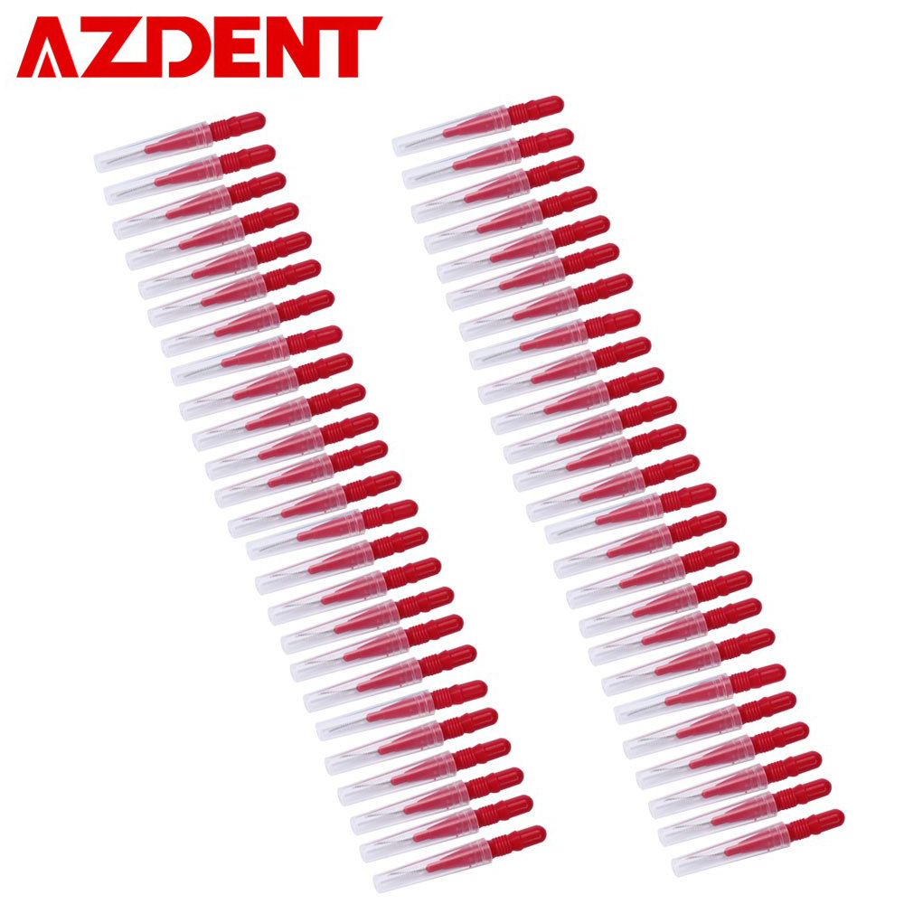 50 Pcs Floss Sticks Tooth Floss Head Oral Hygiene Dental Floss Soft Plastic Interdental Brush Toothpick Cleaning Oral Healthy