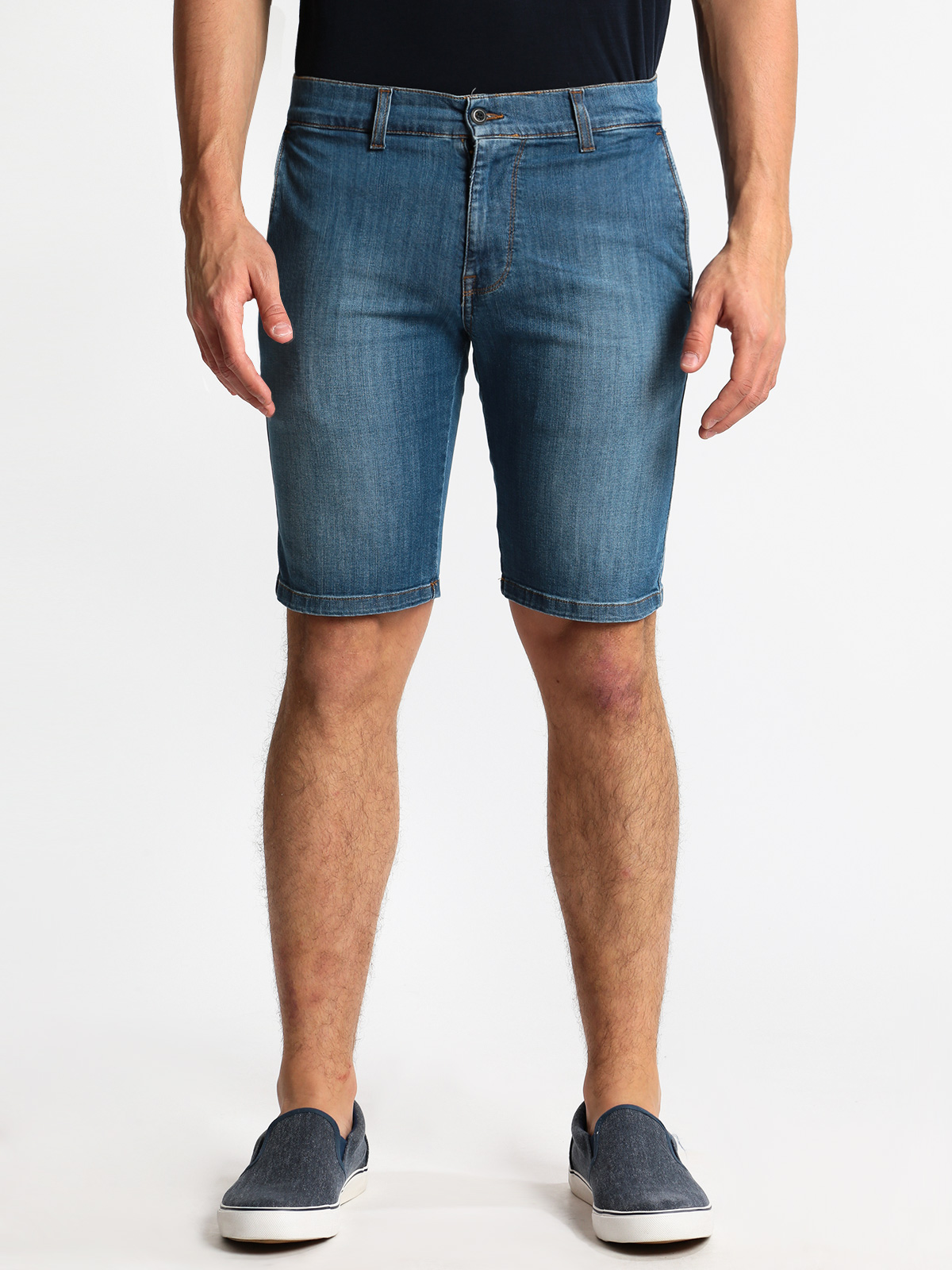 Bermuda Jeans Mid Waist-plus Size