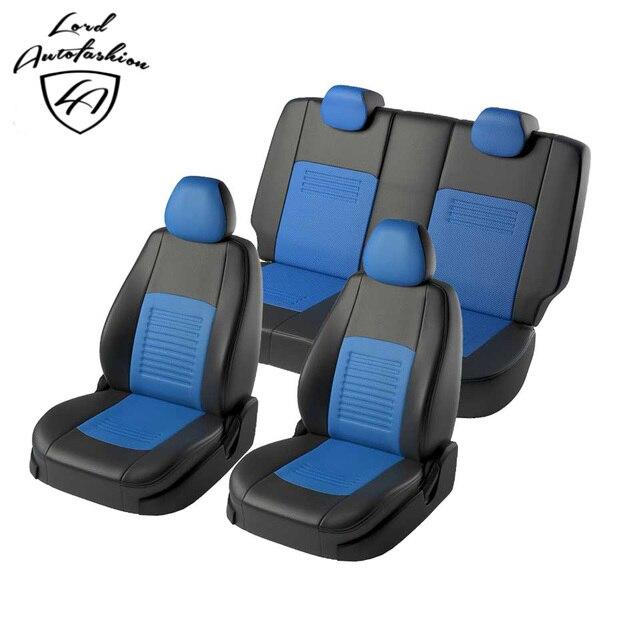 Для Hyundai Solaris 2017-2019 Комплект модельных авточехлов из экокожи (Модель Турин)