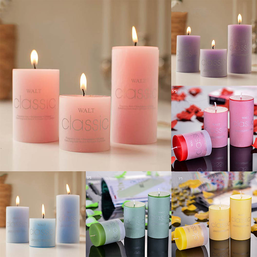 1 Pcs Scented Candles Craft Candle Gifts Wedding Column Wax Smokeless Fragrant Candle Decorative