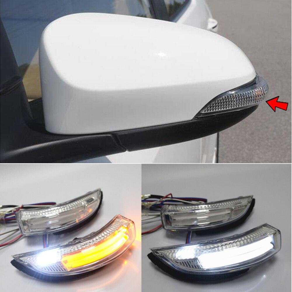 Pour Toyota Corolla Camry 12-17 Prius Aurion Avalon Vios Yaris Auris LED rétroviseur de porte latérale clignotant lampe de stationnement de courtoisie