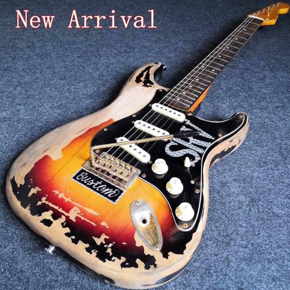 china guitar aged relic srv guitar 10s custom shop masterbuilt electric guitar in guitar from. Black Bedroom Furniture Sets. Home Design Ideas