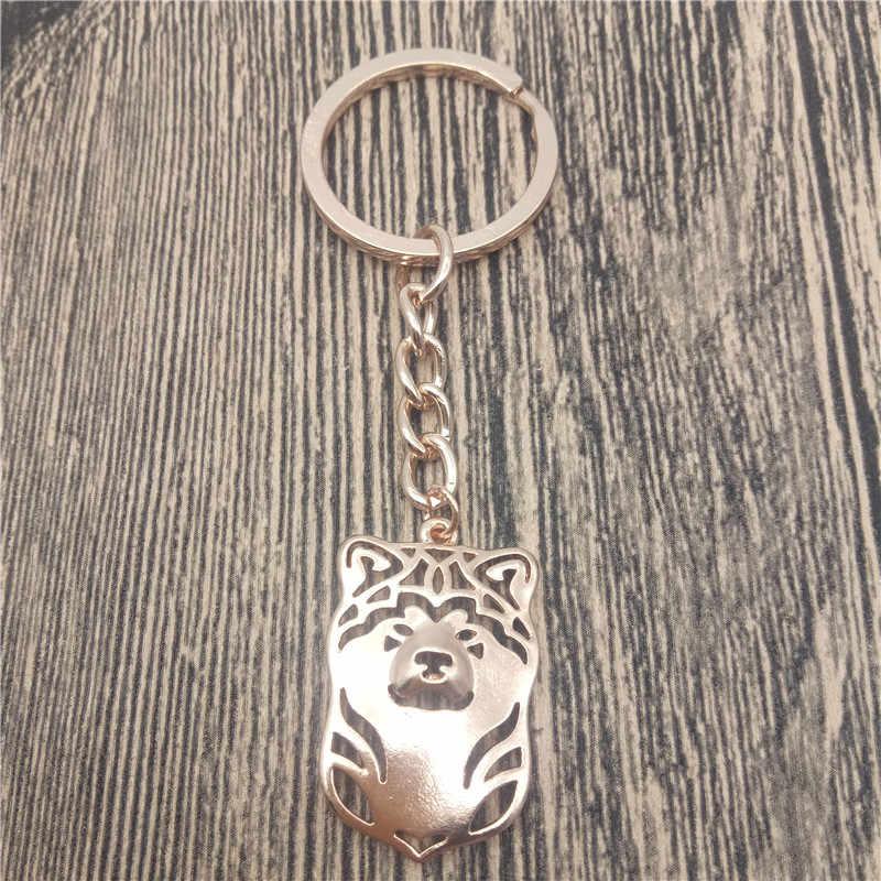 Nhật bản Akita Key Chains Fashion Pet Dog Đồ Trang Sức Nhật Bản Akita Xe Keychain Bag Keyring Cho Phụ Nữ Người Đàn Ông