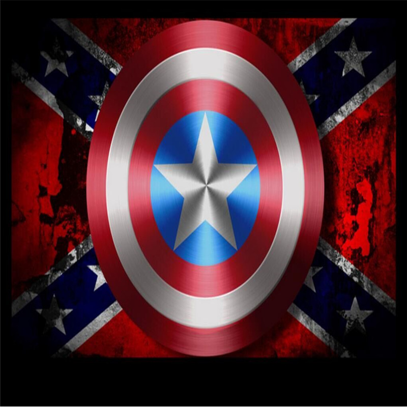 Europe and the United States super hero shield background map specializing in the production of wallpaper murals