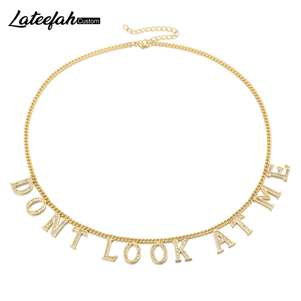 Lateefah Her Valentines Gift Mothers Day Gift Personalized Name Necklace Custom Name Plate Necklace Daily Jewelry Gifts Etsy in Choker Necklaces from Jewelry Accessories