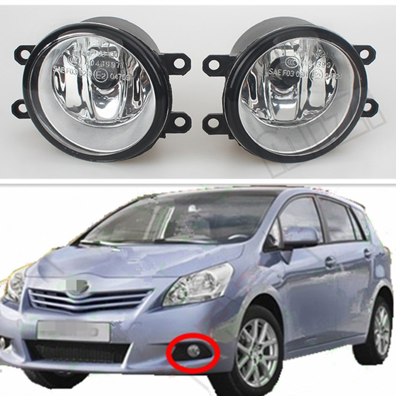 Car Styling For Toyota AURIS Corolla Saloon (E15_) Verso 2007-2009 Mark X 2009-2011 Car Front bumper Fog lights Halogen Lamps 2 pcs set car styling front bumper light fog lamps for toyota venza 2009 10 11 12 13 14 81210 06052 left right