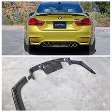V Стиль углеродного волокна набор внешних комплектующих к автомобилю рассеиватель задней губы Спойлер 3 шт для BMW F80 M3 F82 F82 M4 2014 до автомобильные аксессуары для укладки