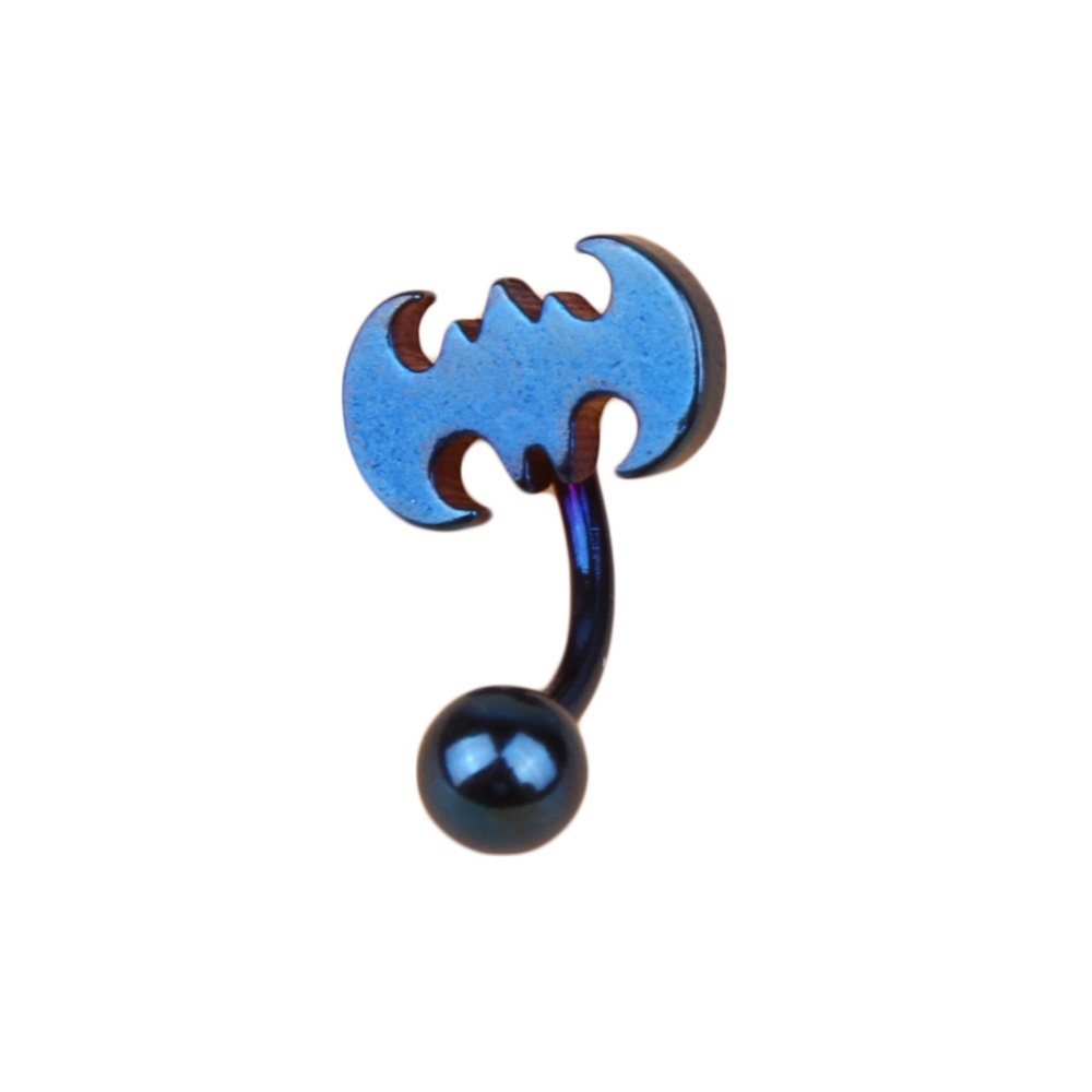Medical Stainless Steel Piercing Bat Belly Button Navel Ring Body Jewelry 2017 Dropshipping
