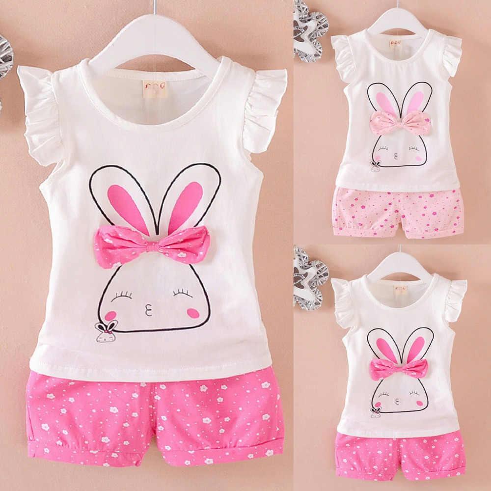 ISHOWTIENDA/Одежда для маленьких девочек топы с рукавами-крылышками и бантом в горошек, короткий повседневный комплект одежды для маленьких девочек 2019 Одежда для младенцев