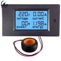 ACแรงดันไฟฟ้าเมตร100A/80 ~ 260โวลต์ดิจิตอลLEDพลังงานแผงมิ