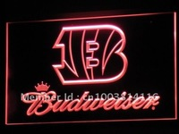 b272 Cincinnati Bengals Budweiser LED Neon Sign with On/Off Switch 7 Colors 4 Sizes to choose