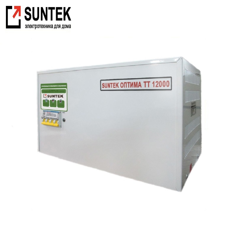 Voltage stabilizer thyristor SUNTEK Optima TT 12000 VA AC Stabilizer Power stab Stabilizer with thyristor amplifier цена и фото