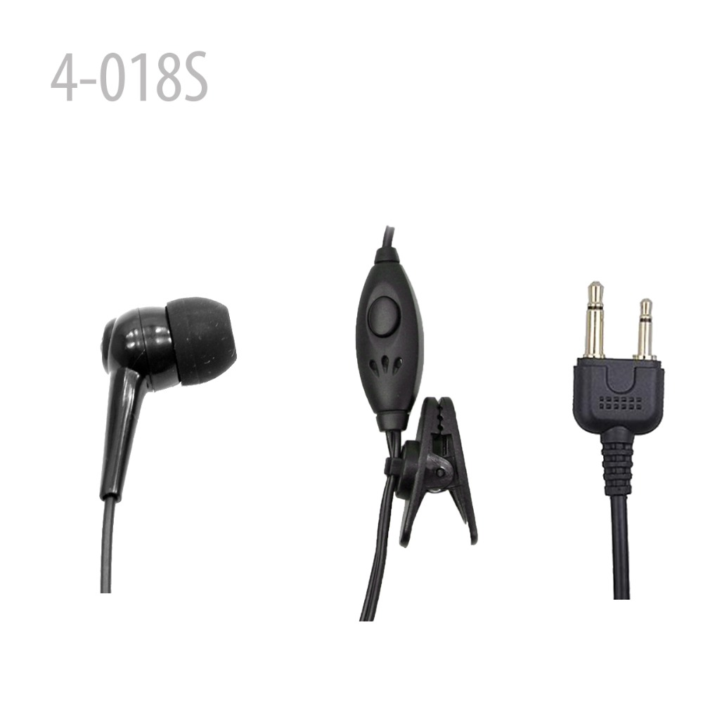 Hot New One Wire Earpiece mic headset walkie headset for IC- F3S IC-F10 <font><b>VX200</b></font> image