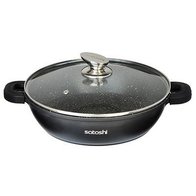 Poêle antiadhésive poêle en cuivre poêle avec revêtement en céramique casserole four à Induction Wok poêle 846-414/416
