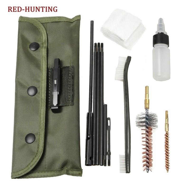 10 шт. 22 22LR .223 556 набор для чистки ружья, набор для чистки ружья, нейлоновая щетка, очиститель, аксессуары для ружья, чистые инструменты