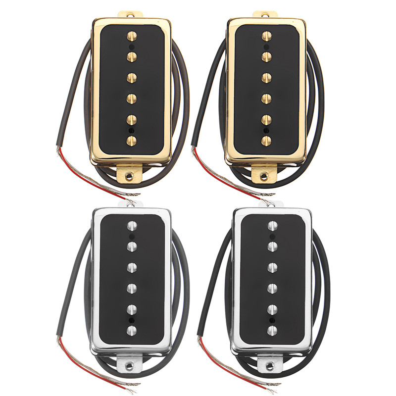Zebra Electric Guitar Neck Bridge Pickup Humbucker Single Coil Stringed Instruments Parts Fits for Single Coil Humbucker Guitar belcat bass pickup 5 string humbucker double coil pickup guitar parts accessories black