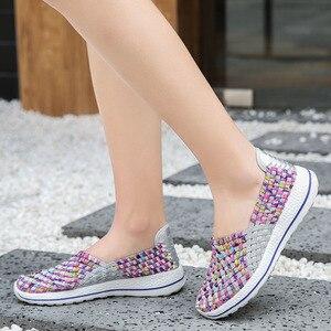 Image 2 - Vrouwen Schoenen Flats Zomer Ademende Sneakers Mode Vrouwen Tenis Casual Loafers Comfortabele Lopen Schoenen Buiten Sneakers Zapatos