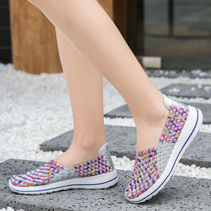Image 2 - Women Shoes Flats Summer Breathable Sneakers Fashion Women Tenis Casual Loafers Comfortable Walk Shoes Outside Sneakers Zapatos