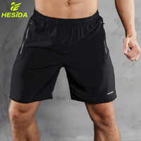 Men Sports Running Shorts Pants Quick Dry Breathable Running Workout Bodybuilding Pocket Tennis Gym Training Short