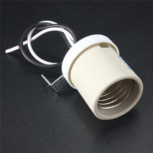 Ceramic Heat Lamp Fitting Base Lamp Base E27 Lampholders Socket Wire Light Bulb Lamp Holder Converter(China)