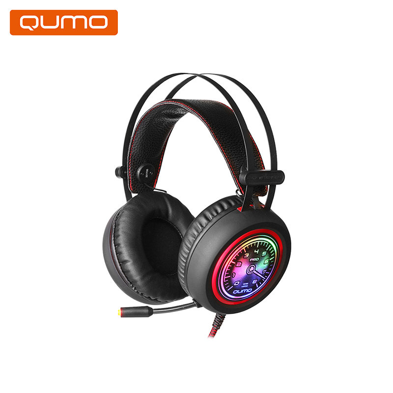 Gaming headset Qumo Drift GHS007 hl good quality original wireless headset bluetooth headphone headband headset with fm tf led indicators for iphone cell phone
