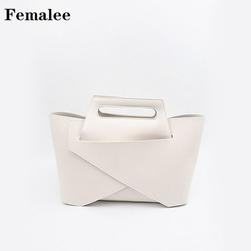 FEMALEE Brand design women shoulder bag Simple Style bucket Handbags Geometry leather Womens Totes Shopping Bag bolsa Feminin