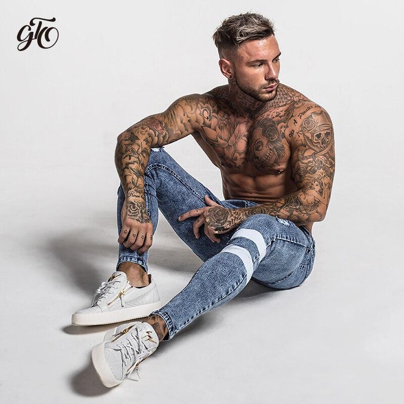 58819387 Gingtto 2018 New Men Skinny Jeans Skinny Slim Fit Stretchy Blue ...