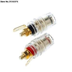 OOTDTY connecteur de prise banane | 2 pièces 4mm borne de liaison Test du haut-parleur prise de courant, haut-parleur amplificateur